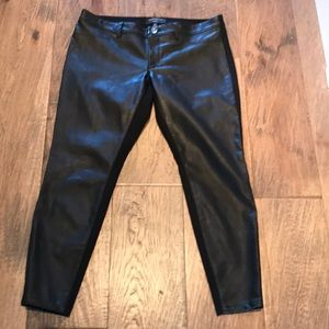 Sloan faux leather fronted ankle pant